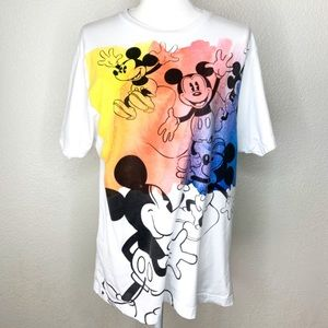 Disney Mickey Mouse Colorful T-Shirt Top Size L